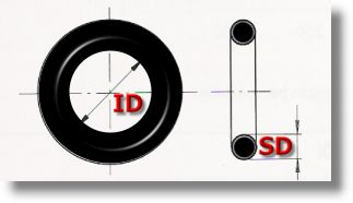 O-ring O-Ringe Ø Außen 67,4mm 100mm Schnurstärke=2,4mm NBR70 Dichtring Oringe