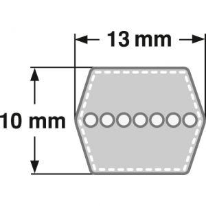 6 Kant Keilriemen Aufsitzmäher Doppelkeilriemen BB 110-2863 mm