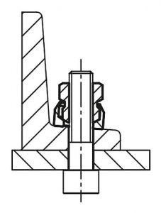 amerikanische Form 50 St/ück M8 Fl/ügelmuttern Edelstahl /ähnlich DIN 315 VA A2 V2A