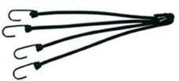 Pösamo Spannhaken für Gummiseil 8 mm schw beschichtet a 2Stck
