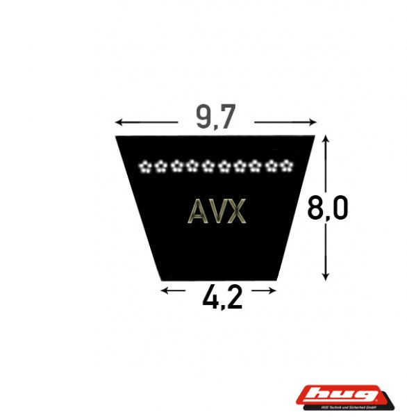 Keilriemen Schmalkeilriemen XPZ 887 Lw = AVX 10 x 900 La